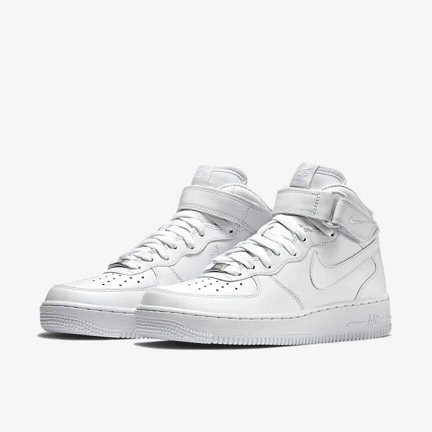 Nike Air Force 1 Mid 07 Sale Weiß Schuhe Damen Herren