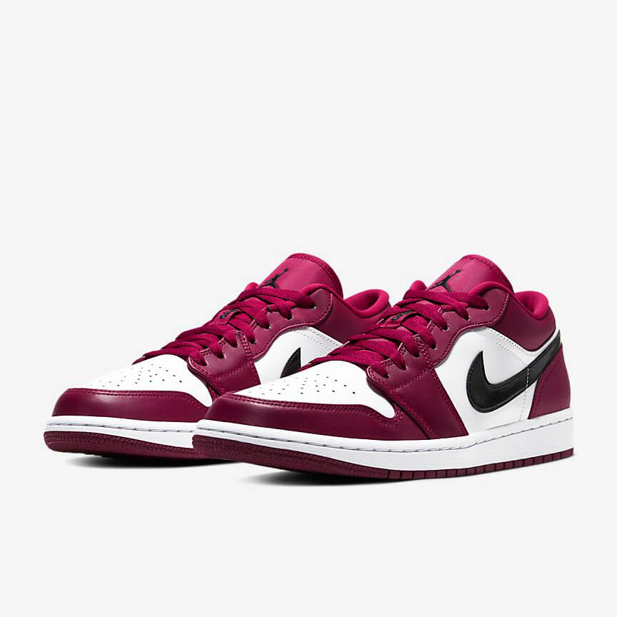 Nike Air Jordan 1 Low Noble Red Sale Weiß Rot Schwarz Schuhe Damen Herren