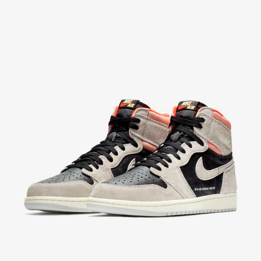 Nike Air Jordan 1 Retro High Neutral Grey Hyper Crimson Günstig Grau Schwarz Rot Schuhe Damen Herren