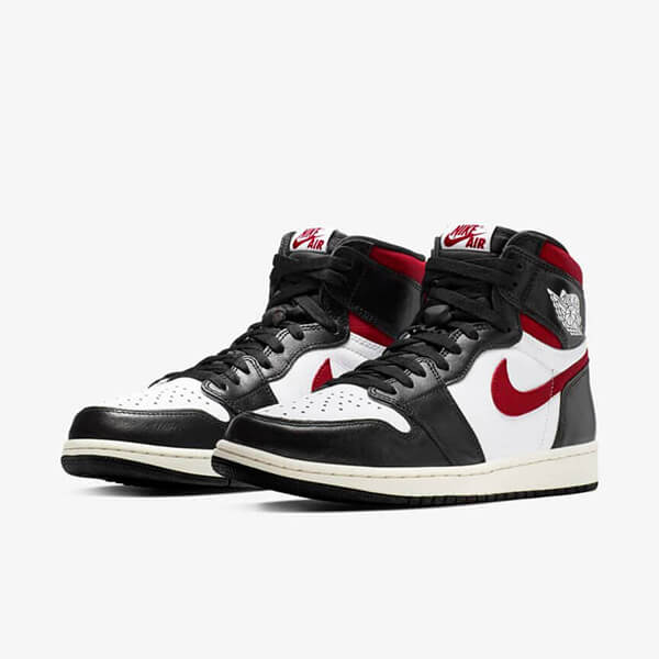Nike Air Jordan 1 Retro High Black Gym Red Günstig Schwarz Rot Schuhe Damen Herren