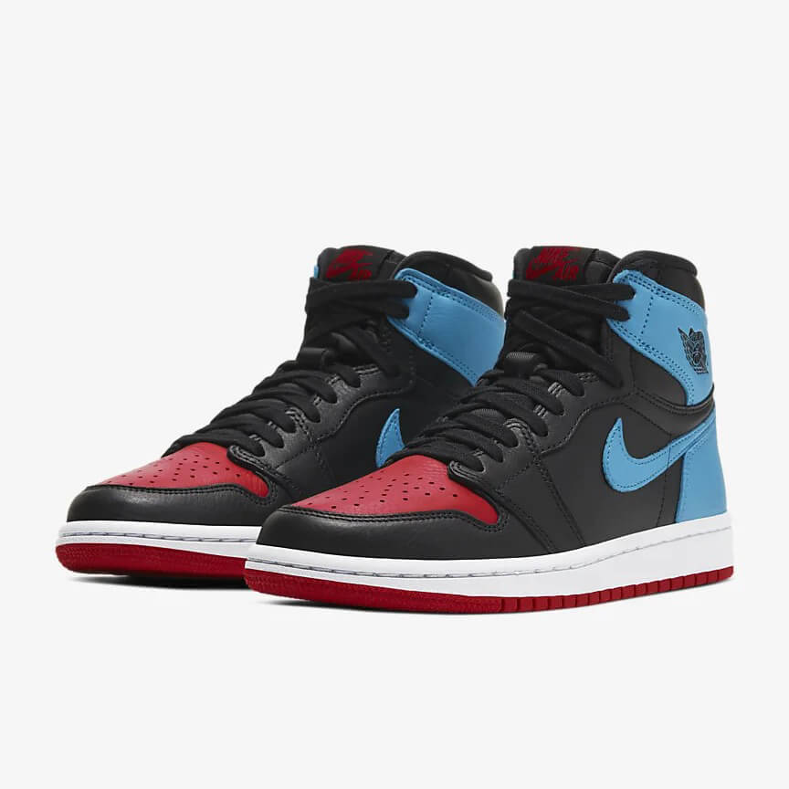 Nike Air Jordan 1 Retro High Og Unc To Chicago Leather Kaufen Schwarz Blau Rot Schuhe Damen Herren