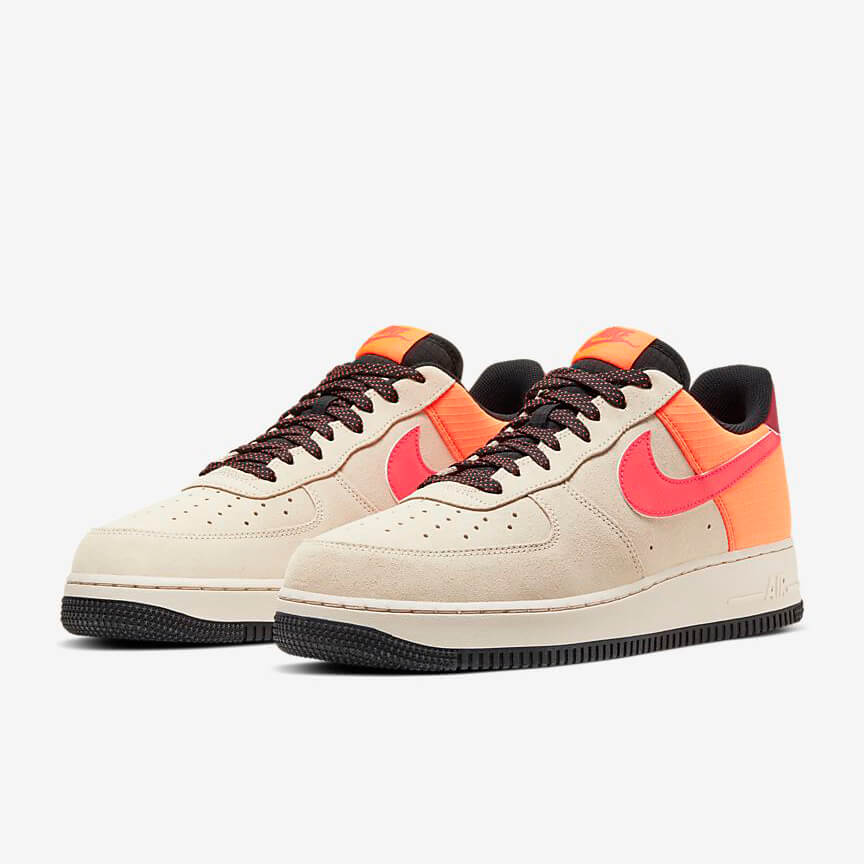 Nike Air Force 1 07 Lv8 Sale Low Beige Rot Schuhe Damen Herren
