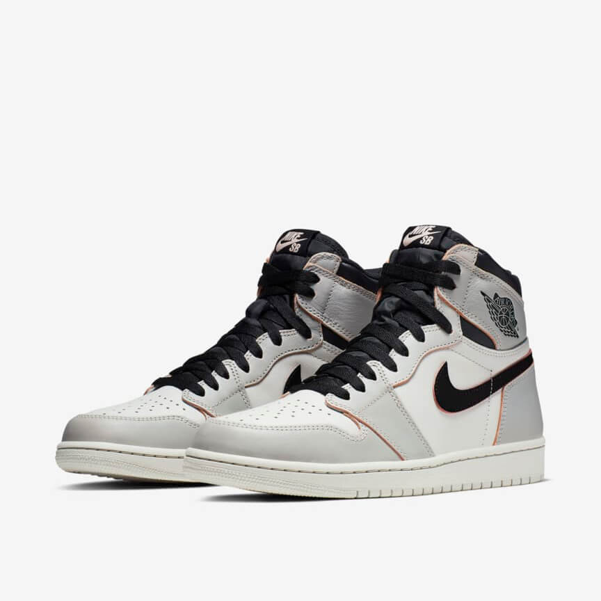 Nike Air Jordan 1 Retro High Og Defiant Sb Nyc To Paris Sale Grau Schwarz Schuhe Damen Herren