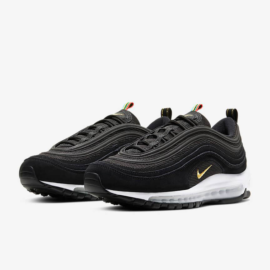 Nike Air Max 97 Olympic Rings Pack Sale Schwarz Schuhe Damen Herren