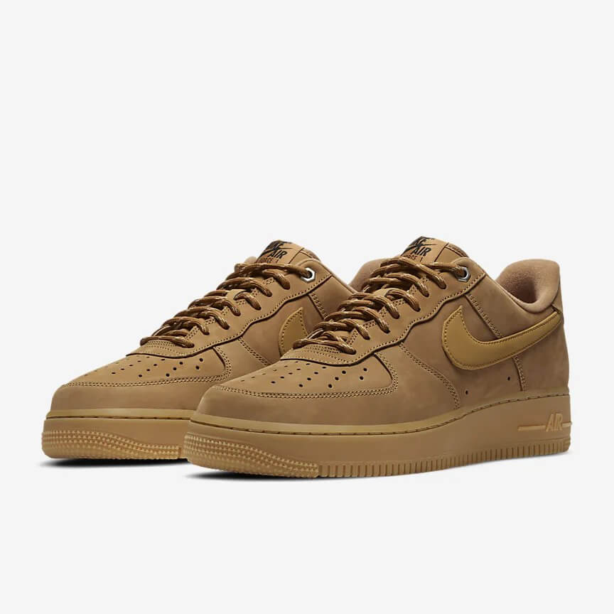 Nike Air Force 1 07 Wb Günstig Low Flax Braun Schuhe Damen Herren