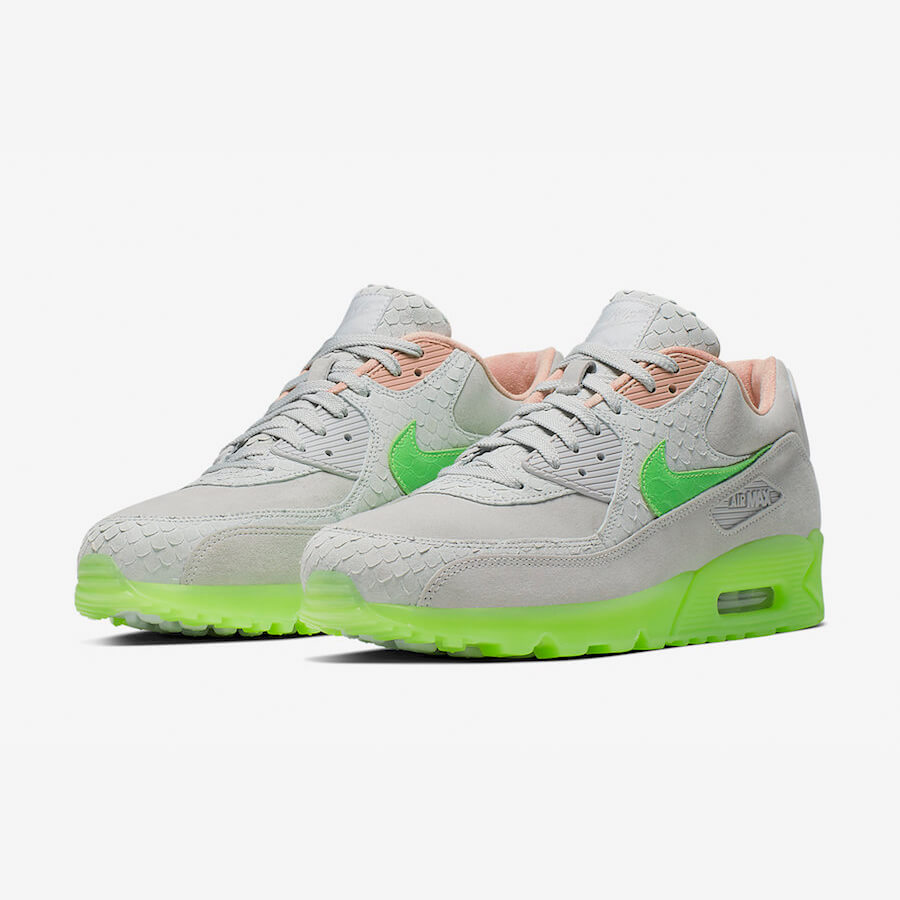 Nike Air Max 90 New Species Sale Grau Grün Schuhe Damen Herren