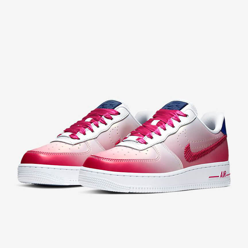 Nike Air Force 1 07 Kay Yow Günstig Low Weiß Peach Schuhe Damen Herren