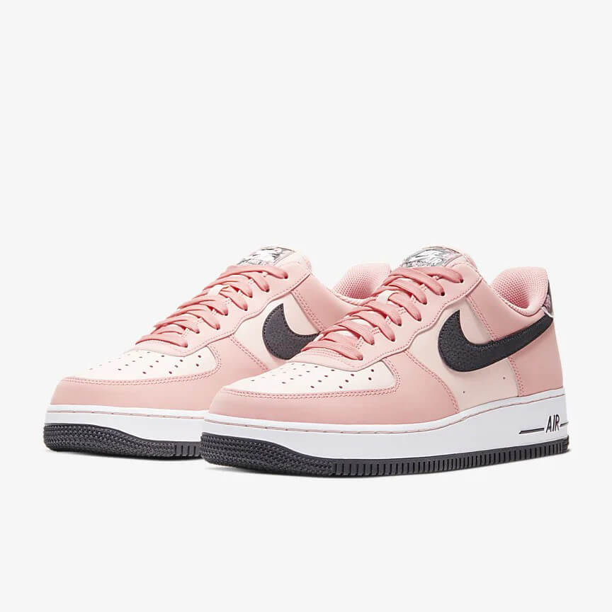 Nike Air Force 1 07 Limited Edition Sale Low Rosa Schwarz Schuhe Damen Herren