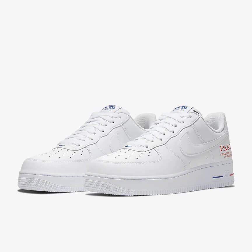 Nike Air Force 1 07 Lv8 Nba Paris Game Reduziert Low Weiß Schuhe Damen Herren